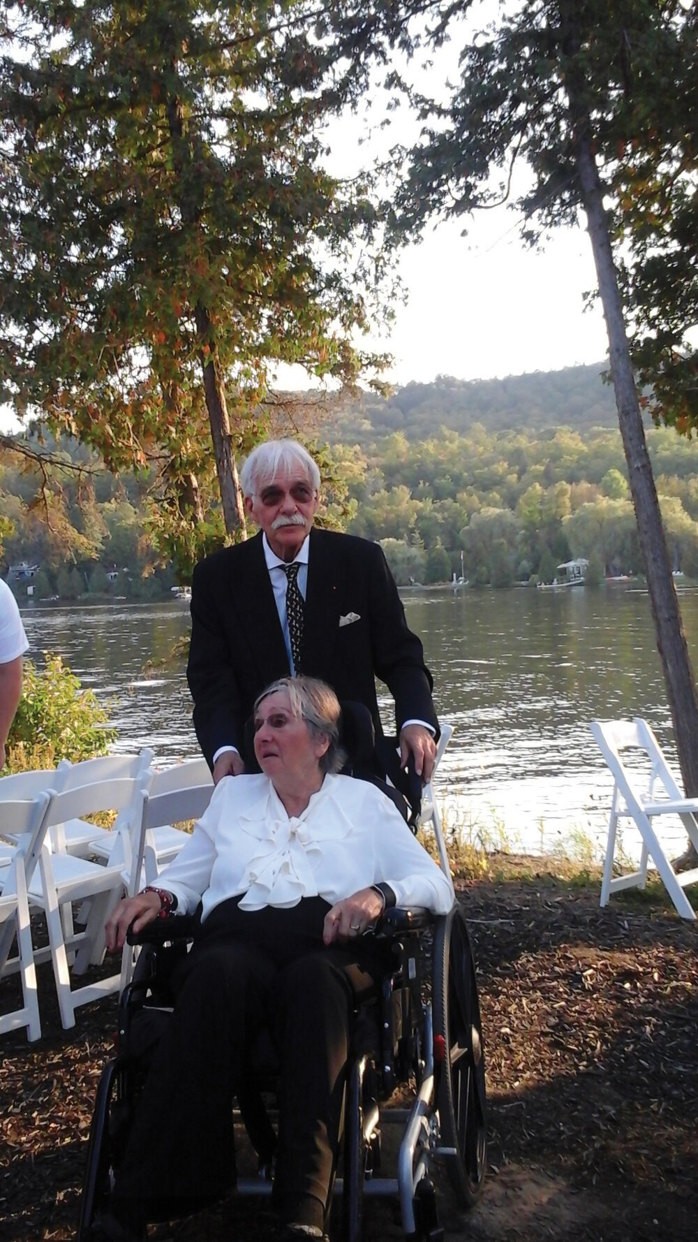 Frank and Irene Palmer at a friend's wedding in September 2017.