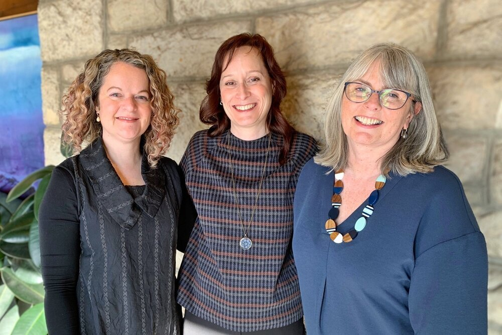 Left to right: Dr. Anna Jack-Waugh, Dr. Shelley Peacock and Dr. Rhonda MacRae. Photo courtesy of Shelley Peacock.