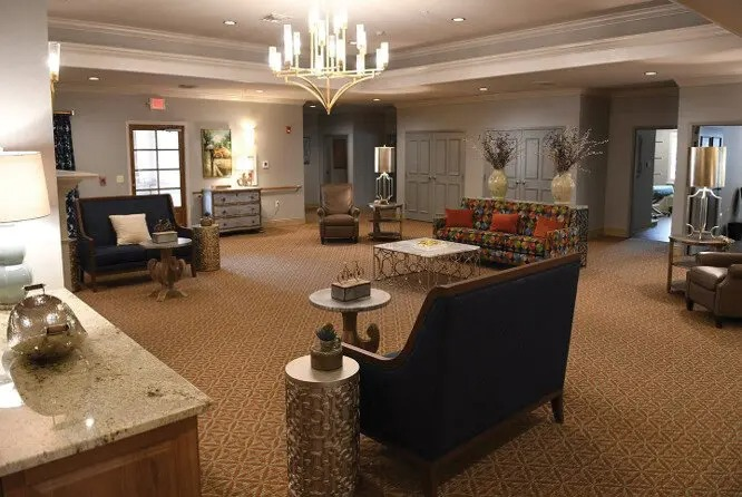 Guest House has 12 private rooms as well as common areas such as a dining room, living room and kitchen.