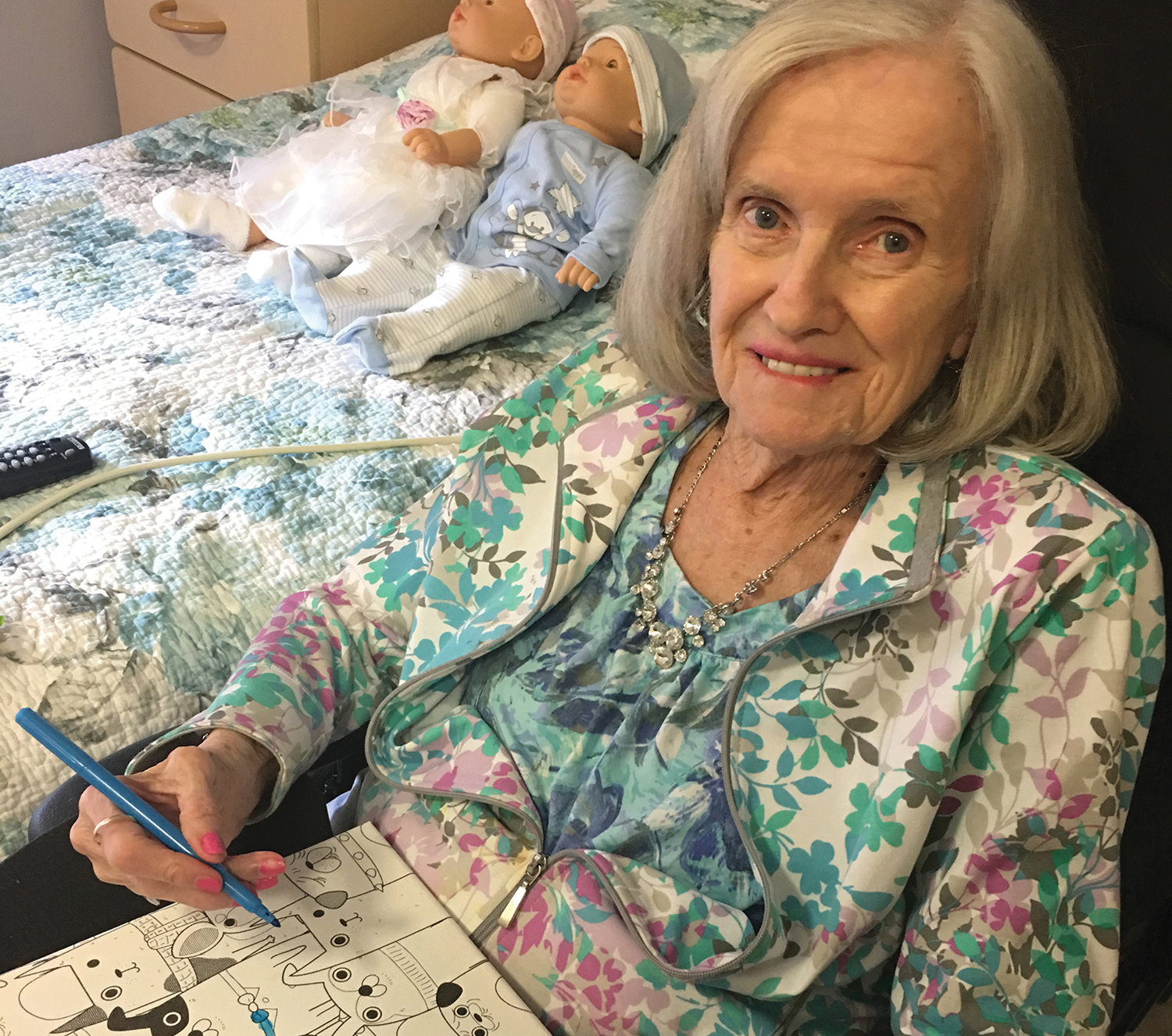Gail Elliot's mother, Peggy, passed away recently, but lived a quality life with dementia. Her room incorporated Montessori ideas, with memory cues available as needed and ready activities that connected her interests to her abilities.