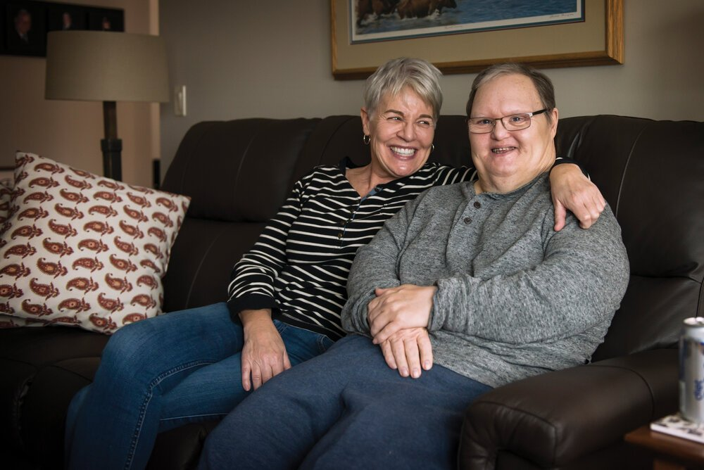 Yvonne Dewar and her brother, Murray Adderley, at his home in Red Deer. Photos by Jennifer Friesen.