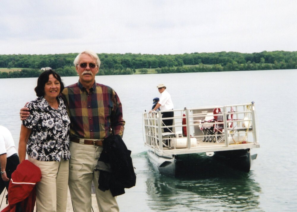 After she was diagnosed, Frank and Irene Palmer continued to travel extensively, including to Manitoulin Island in Lake Huron shown here, and attend social events. Photos courtesy Frank Palmer.